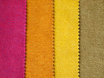 Sample hot tone color fabric Royalty Free Stock Photography