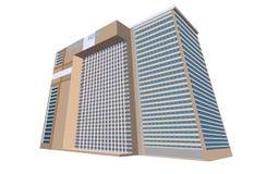 Sample hotel plaza building Stock Image