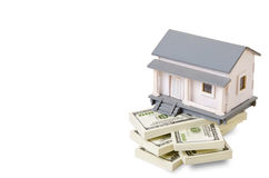 A sample house on dollars Stock Photography