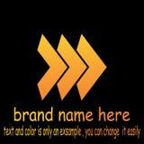 Abstrct arrow logo vector. Sample icon abstrct Abstrct arrow logo vector Stock Image