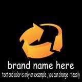 Circle arrow logo vector. Sample icon circle arrow logo vector Royalty Free Stock Image