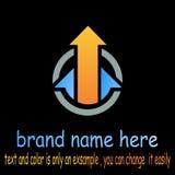 Round arrow logo vector. Sample icon round arrow logo vector Royalty Free Stock Photo