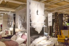 A sample of the interior in IKEA store, IKEA was founded in of Sweden in 1943, IKEA to have large chain stores around the world. Philadelphia Pennsylvania Royalty Free Stock Photo