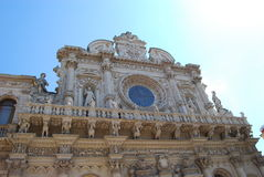 Sample of Italian Barocco. Front details of cathedral in Lecce Royalty Free Stock Image