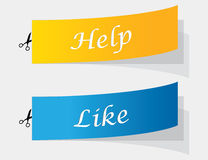 Sample labels Stock Photography