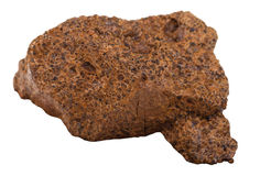 Sample of limonite  brown iron ore isolated Stock Photo