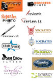 Sample Logo Set 6 Stock Photography
