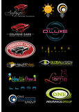 Sample Logo Set 10 royalty free stock images