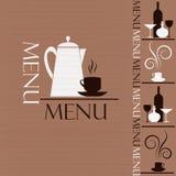 Sample menu Royalty Free Stock Photos
