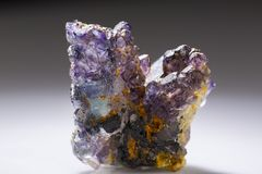 Sample of the mineral Flourite mineral stone. royalty free stock photo