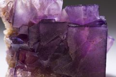 Sample of the mineral Flourite mineral stone. stock image