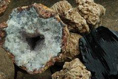 Quartz & Obsidian royalty free stock photography