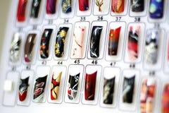 Nail designs. Sample of modern nail designs Royalty Free Stock Photo