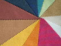 Sample multicolor fabric. For making furniture royalty free stock photography