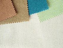 Sample nature tone color fabric Royalty Free Stock Photos