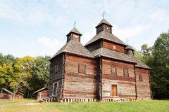 Sample Of Old Wooden Church Royalty Free Stock Photos