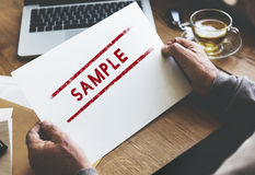 Sample Option Test Choosing Data Material Concept Royalty Free Stock Photography