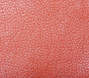 Sample of orange leather upholstery Stock Photography