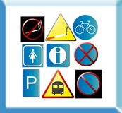 Sample pictograms Royalty Free Stock Image