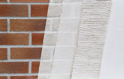 Sample of plastering layers Royalty Free Stock Images