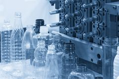 The  sample of plastic bottle product Stock Images