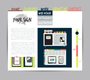 Sample print or web page layout. Royalty Free Stock Images