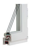 Sample PVC window Stock Image