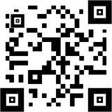 Sample qr code. In black and white Stock Photography