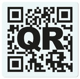 Sample QR code with letter QR PSD Stock Photography