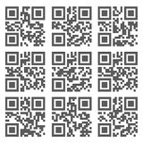 Sample  QR Code Ready to Scan with Smart Phone Stock Photos