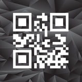 Sample QR Code Ready to Scan with Smart Phone Stock Photography