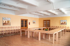 Sample room. With table and chairs stock photos