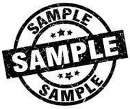 Sample round grunge stamp Royalty Free Stock Image