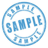 Sample rubber stamp Stock Photos