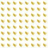Sample seamless bananas background. Stock Photo