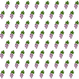 Sample seamless grape vines background. Stock Image