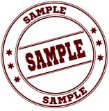 SAMPLE simple red stamp Royalty Free Stock Image