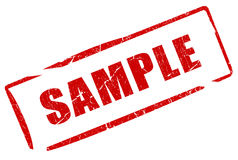 Sample stamp Stock Photos