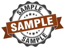 Sample stamp Stock Image