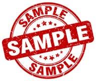Sample stamp. Sample grunge stamp on white background Stock Images