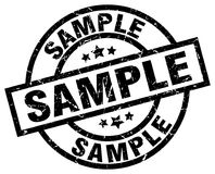 Sample stamp. Sample grunge stamp on white background Royalty Free Stock Photography