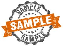 Sample stamp. Sample grunge stamp on white background Stock Photo