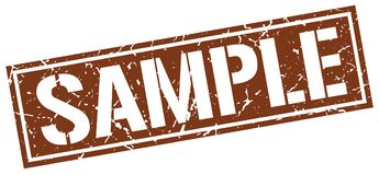 Sample stamp. Sample grunge stamp on white background Stock Photos