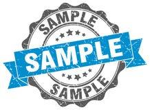 Sample stamp. Sample grunge stamp on white background Royalty Free Stock Photo
