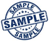 Sample stamp. Sample round grunge stamp isolated on white background Stock Photography