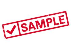 Sample stamp rubber grunge Royalty Free Stock Image