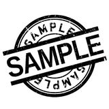 Sample stamp rubber grunge Stock Photography