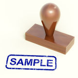 Sample Stamp Shows Examples Symbol Or Taste Royalty Free Stock Photography