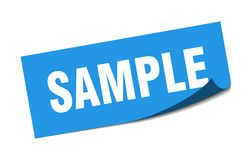 Free Sample Sticker. Stock Photography - 153273462