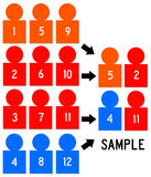 Sample. Taking a representative random sample from a larger group Royalty Free Stock Photos